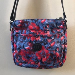 Kipling floral nylon crossbody bag purse